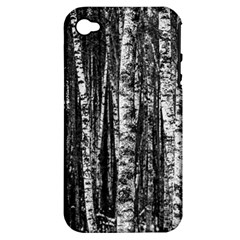 Birch Forest Trees Wood Natural Apple Iphone 4/4s Hardshell Case (pc+silicone)