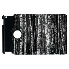 Birch Forest Trees Wood Natural Apple iPad 2 Flip 360 Case