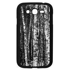 Birch Forest Trees Wood Natural Samsung Galaxy Grand DUOS I9082 Case (Black)