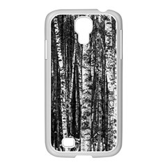 Birch Forest Trees Wood Natural Samsung GALAXY S4 I9500/ I9505 Case (White)