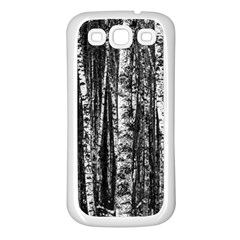 Birch Forest Trees Wood Natural Samsung Galaxy S3 Back Case (White)