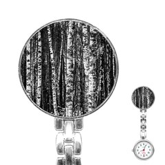 Birch Forest Trees Wood Natural Stainless Steel Nurses Watch