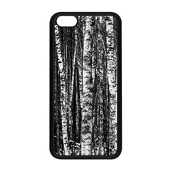 Birch Forest Trees Wood Natural Apple Iphone 5c Seamless Case (black)