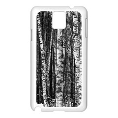 Birch Forest Trees Wood Natural Samsung Galaxy Note 3 N9005 Case (white)