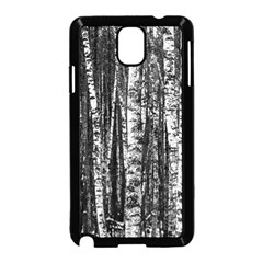 Birch Forest Trees Wood Natural Samsung Galaxy Note 3 Neo Hardshell Case (Black)