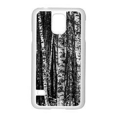 Birch Forest Trees Wood Natural Samsung Galaxy S5 Case (white)