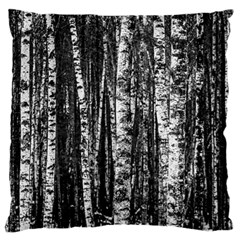 Birch Forest Trees Wood Natural Large Flano Cushion Case (Two Sides)