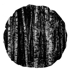 Birch Forest Trees Wood Natural Large 18  Premium Flano Round Cushions