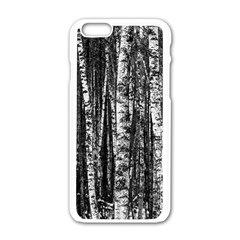 Birch Forest Trees Wood Natural Apple Iphone 6/6s White Enamel Case