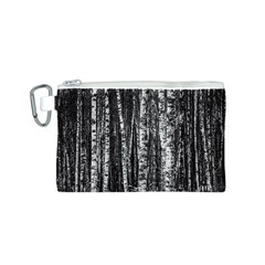 Birch Forest Trees Wood Natural Canvas Cosmetic Bag (S)