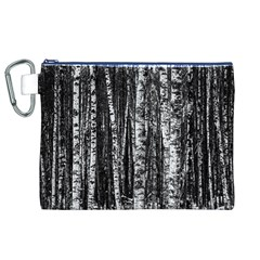 Birch Forest Trees Wood Natural Canvas Cosmetic Bag (XL)