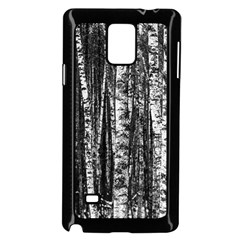 Birch Forest Trees Wood Natural Samsung Galaxy Note 4 Case (black)