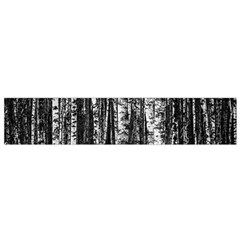 Birch Forest Trees Wood Natural Flano Scarf (Small)
