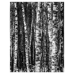 Birch Forest Trees Wood Natural Drawstring Bag (large)