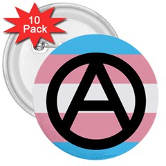 Anarchist Pride 3  Buttons (10 pack)