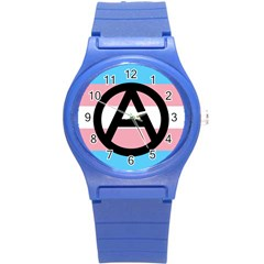 Anarchist Pride Round Plastic Sport Watch (S)