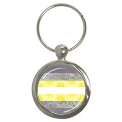 Nonbinary flag Key Chains (Round)
