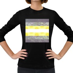 Nonbinary flag Women s Long Sleeve Dark T-Shirts