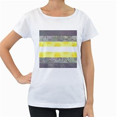 Nonbinary flag Women s Loose-Fit T-Shirt (White)