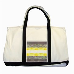 Nonbinary flag Two Tone Tote Bag