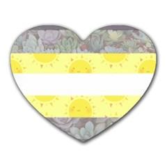 Nonbinary flag Heart Mousepads