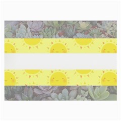 Nonbinary flag Large Glasses Cloth (2-Side)