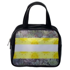 Nonbinary flag Classic Handbags (One Side)