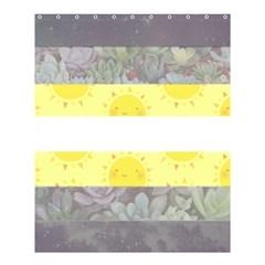 Nonbinary flag Shower Curtain 60  x 72  (Medium)