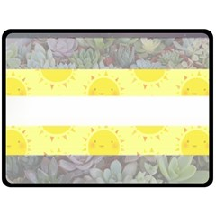 Nonbinary flag Double Sided Fleece Blanket (Large)
