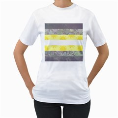 Nonbinary flag Women s T-Shirt (White)