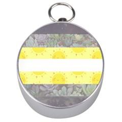 Nonbinary flag Silver Compasses