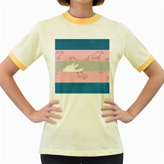 Pride Flag Women s Fitted Ringer T-Shirts