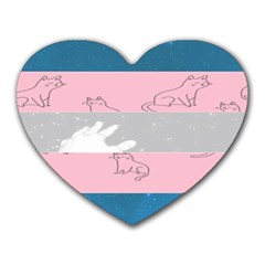 Pride Flag Heart Mousepads