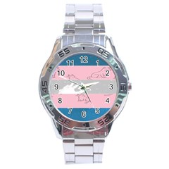 Pride Flag Stainless Steel Analogue Watch