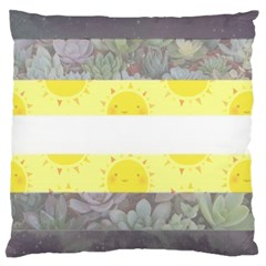 Cute Flag Large Cushion Case (One Side)