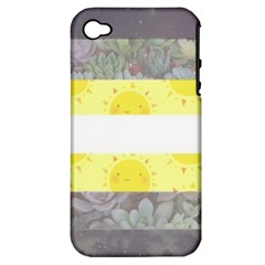 Cute Flag Apple iPhone 4/4S Hardshell Case (PC+Silicone)