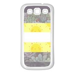 Cute Flag Samsung Galaxy S3 Back Case (White)