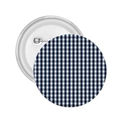 Silent Night Blue Large Gingham Check 2.25  Buttons