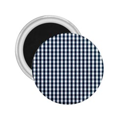 Silent Night Blue Large Gingham Check 2.25  Magnets