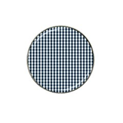 Silent Night Blue Large Gingham Check Hat Clip Ball Marker (4 pack)