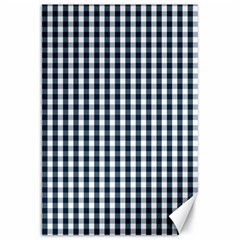 Silent Night Blue Large Gingham Check Canvas 20  x 30