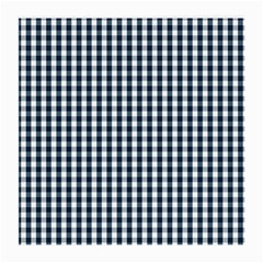 Silent Night Blue Large Gingham Check Medium Glasses Cloth (2-Side)