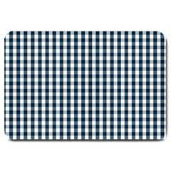 Silent Night Blue Large Gingham Check Large Doormat