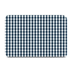 Silent Night Blue Large Gingham Check Plate Mats