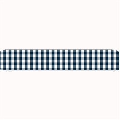 Silent Night Blue Large Gingham Check Small Bar Mats