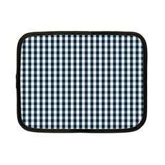 Silent Night Blue Large Gingham Check Netbook Case (Small)