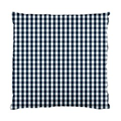Silent Night Blue Large Gingham Check Standard Cushion Case (One Side)
