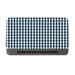 Silent Night Blue Large Gingham Check Memory Card Reader with CF
