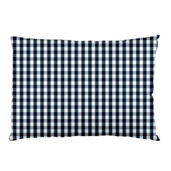 Silent Night Blue Large Gingham Check Pillow Case (Two Sides)