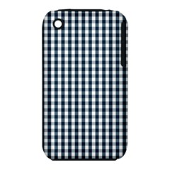 Silent Night Blue Large Gingham Check iPhone 3S/3GS